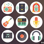 Colorful vector icons for web and mobile applications. Set 11