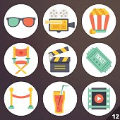 Colorful vector icons for web and mobile applications. Set 12
