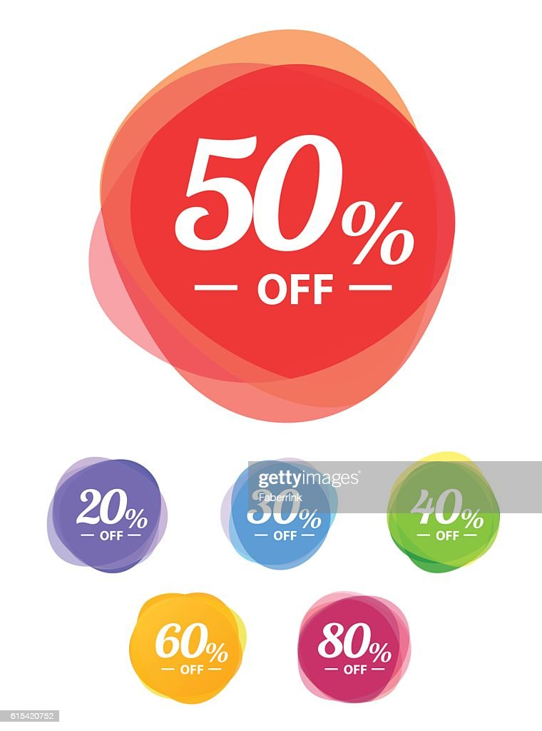 Colorful vector sale tags. Best price