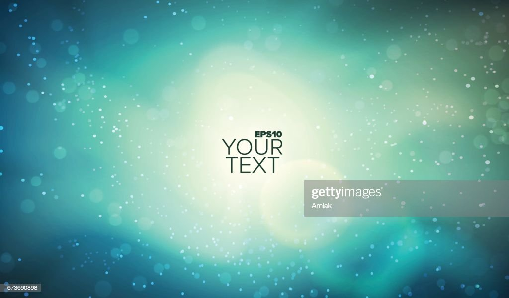 Colorful vector space background. Glowing nebula. Abstract galaxy illustration. Outer landscape