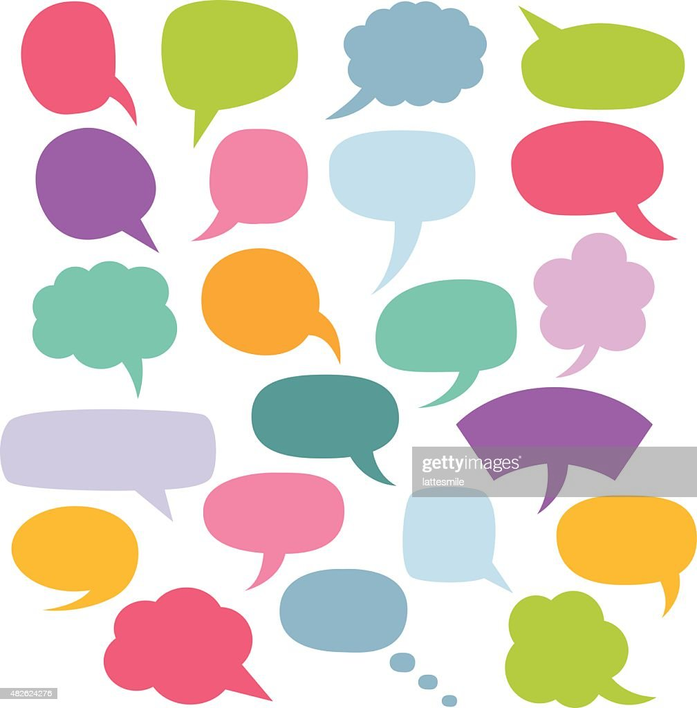 Colorful vector speech bubbles set