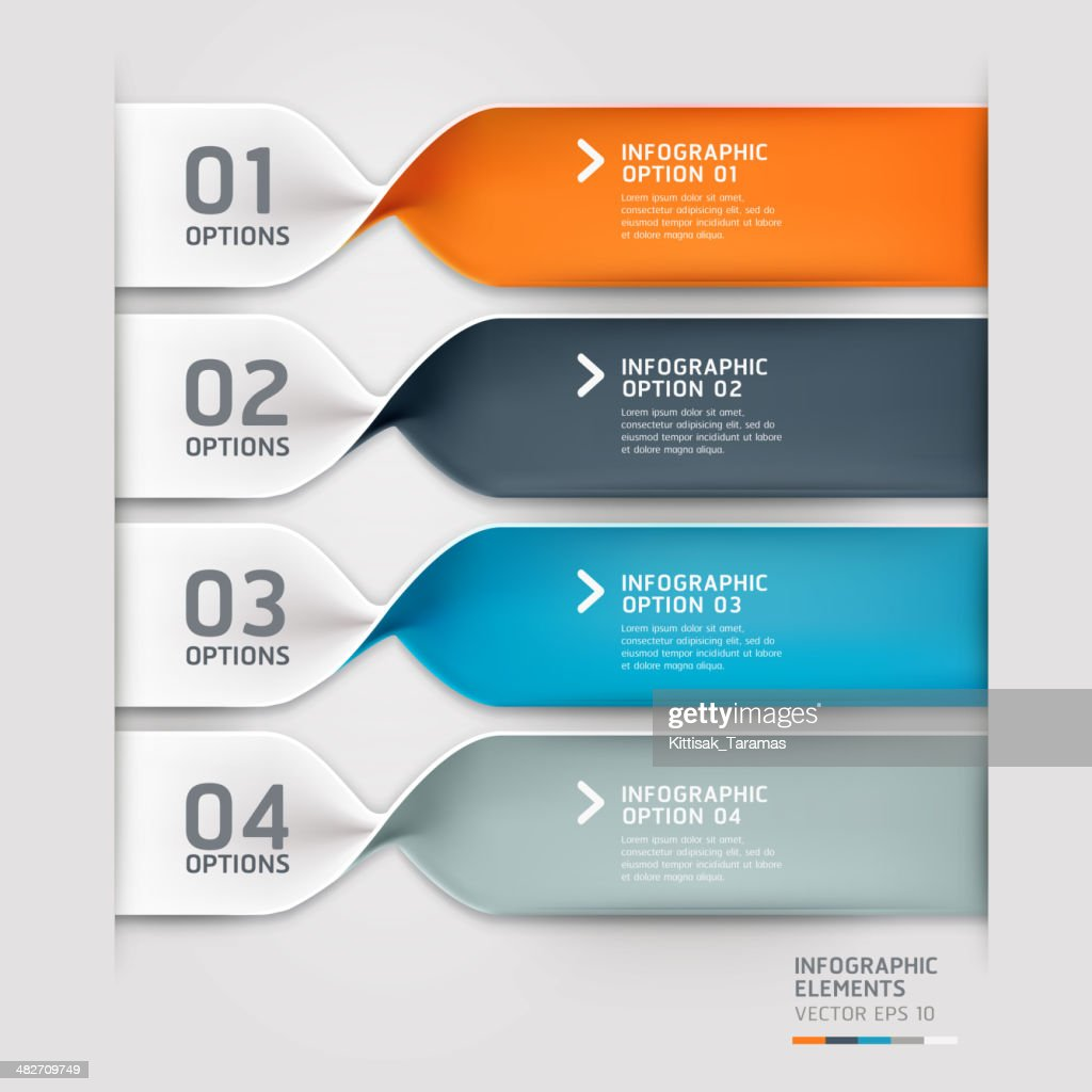 Colorful vector spiral infographics banners