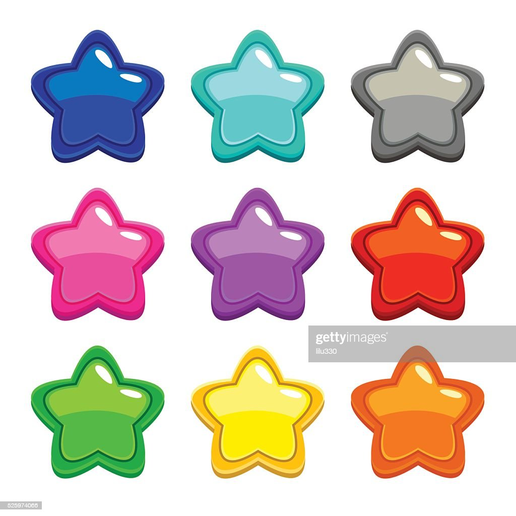 Colorful vector star icons