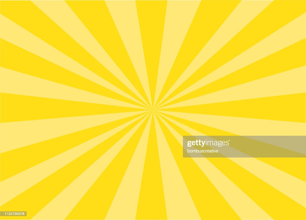 Colorful Vector Sunburst : Stock Illustration