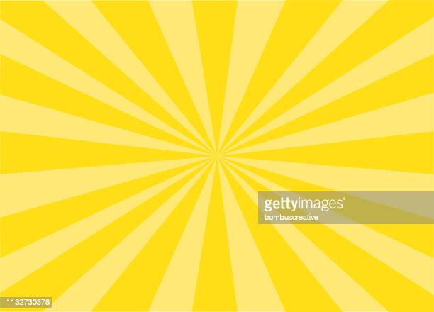 colorful vector sunburst - summer stock illustrations