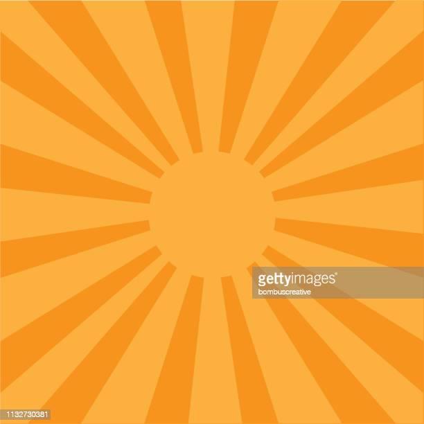 colorful vector sunburst - aura stock illustrations