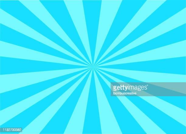 bunte vector sunburst - farbiger hintergrund stock-grafiken, -clipart, -cartoons und -symbole