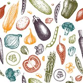 Colorful vegetables pattern