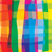 Colorful vivid bright rainbow abstract background. Smooth curve lines with stripes. Transparency are flattened.