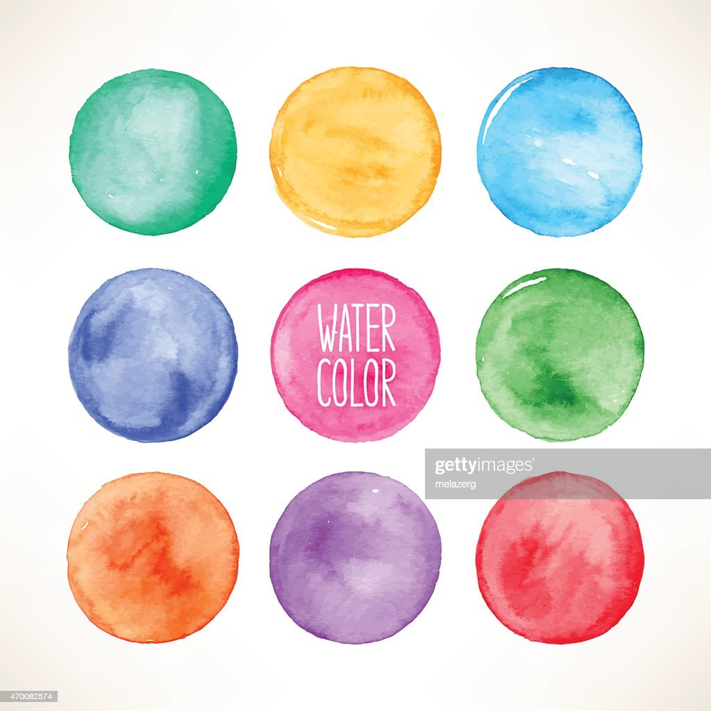 colorful watercolor round spots