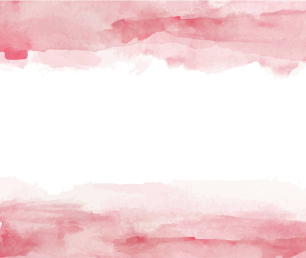 colorful watercolor splashes - pink stock illustrations