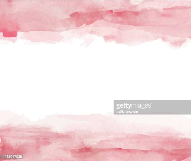 colorful watercolor splashes - pink colour stock illustrations