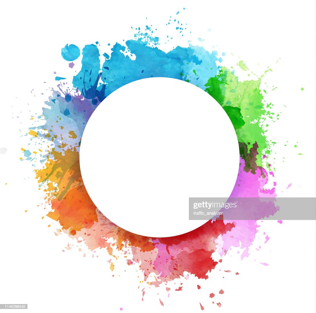 Colorful watercolor splashes : Stock Illustration