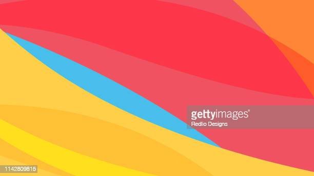 colorful wave background - natural pattern stock illustrations