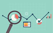 Colorful web analytics illustration