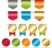 Colorful Web Ribbons Set