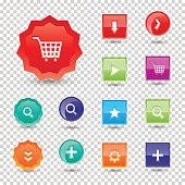 Colorful website buttons design vector illustration glossy graphic label internet template banner