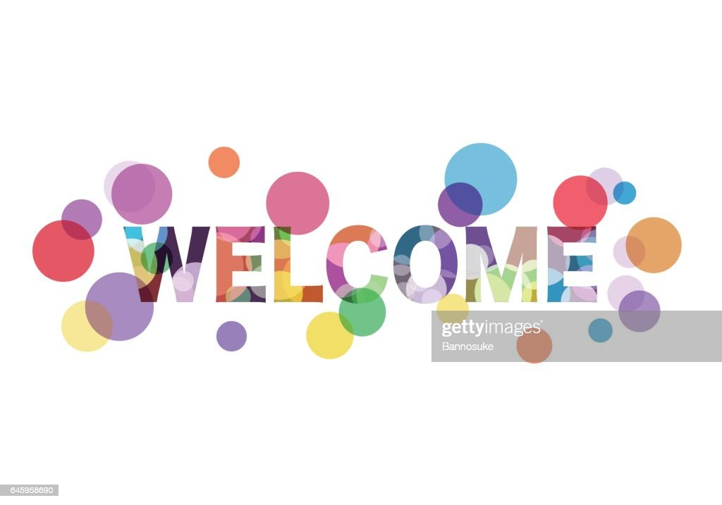 Colorful welcome word