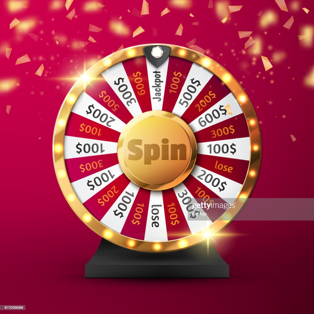 Colorful wheel of luck or fortune infographic. Vector
