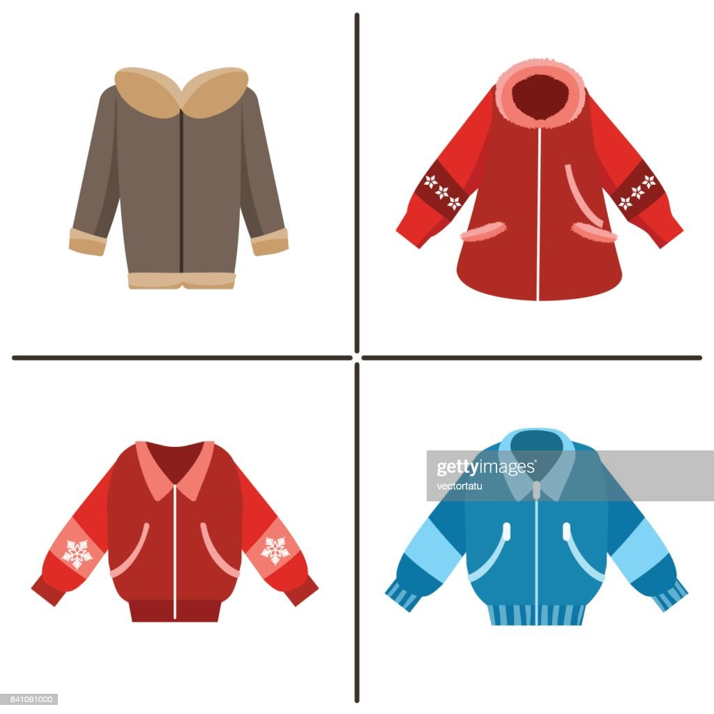 Colorful winter jackets