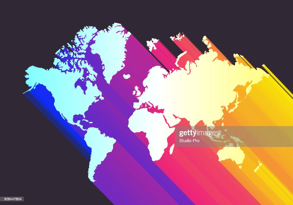 Colorful world map vector art getty images colorful world map gumiabroncs Gallery