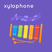 Colorful xylophone.