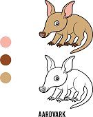 Coloring book, Aardvark