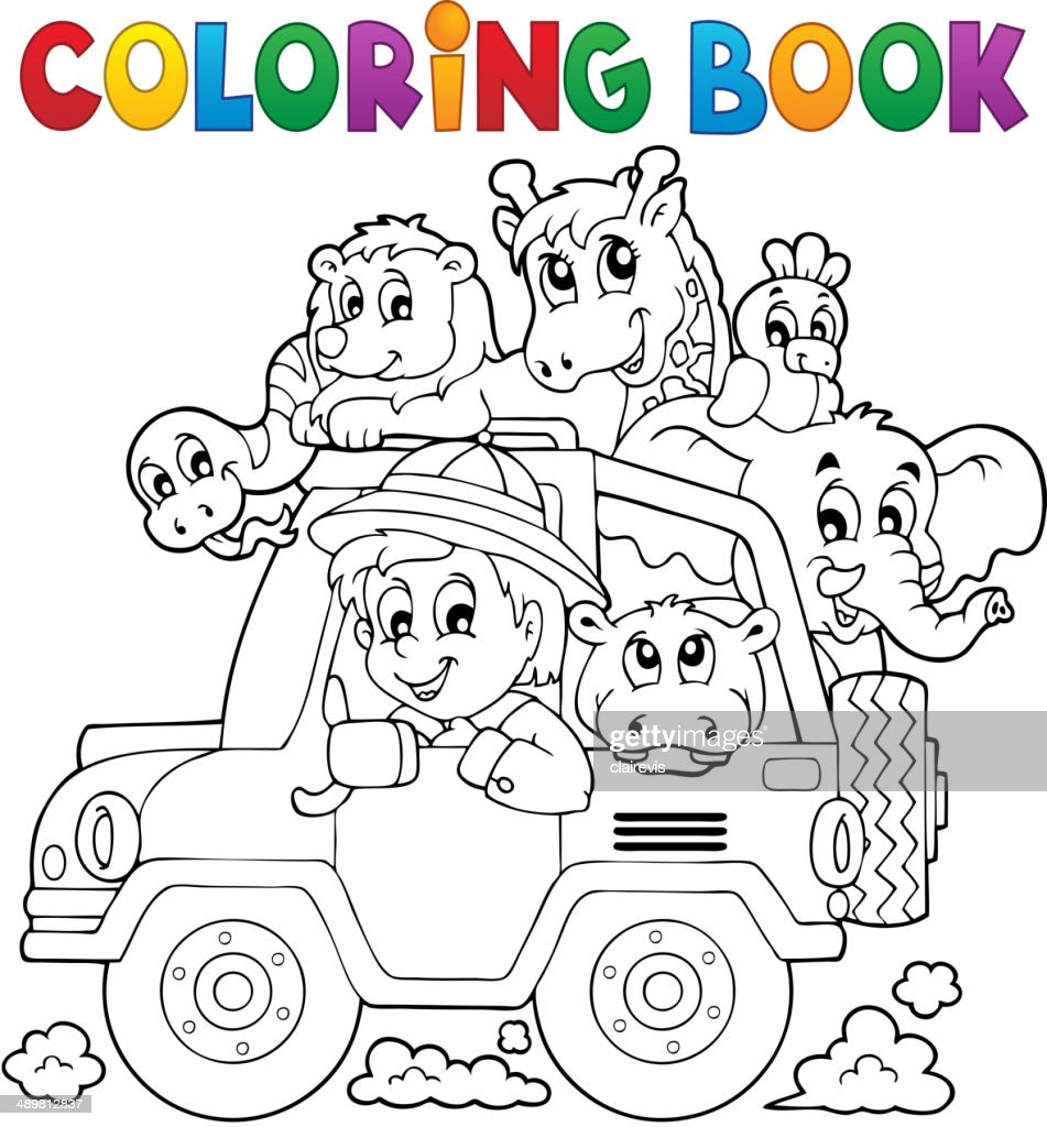 Coloring book car traveller theme 2