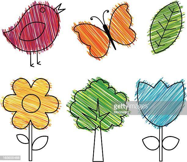 Ilustraciones de Stock y dibujos de Dibujo Con Lápices De Colores ...