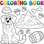 Coloring book dog theme 7