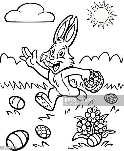 Coloring Book Easter Bunny