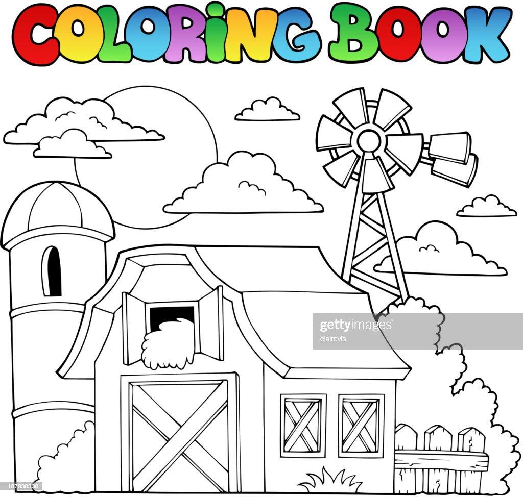 Coloring book farm theme 1