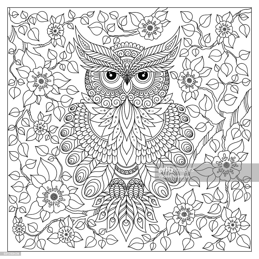 Coloring book for adult and older children.