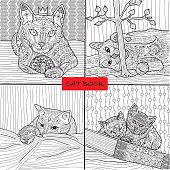 Coloring book for adults - doodle