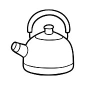Coloring book, Kettle
