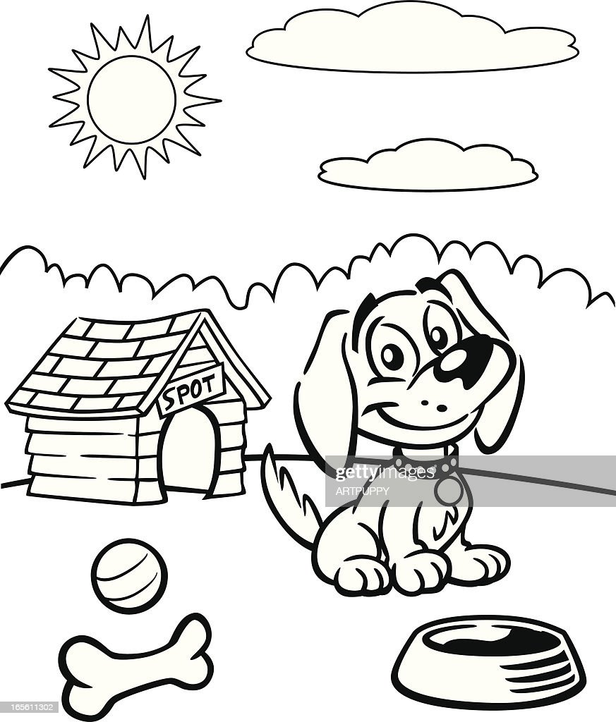 Coloring Book of Puppy