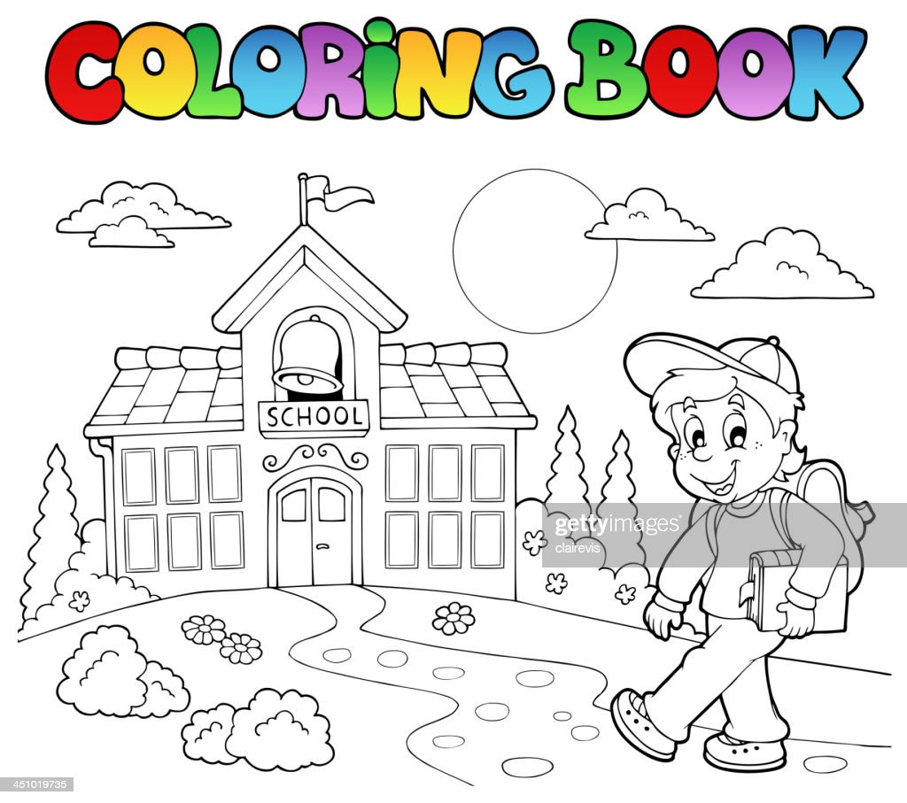 Coloring book school cartoons 7