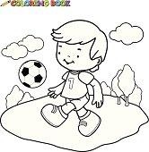 Coloring book Soccer Kid