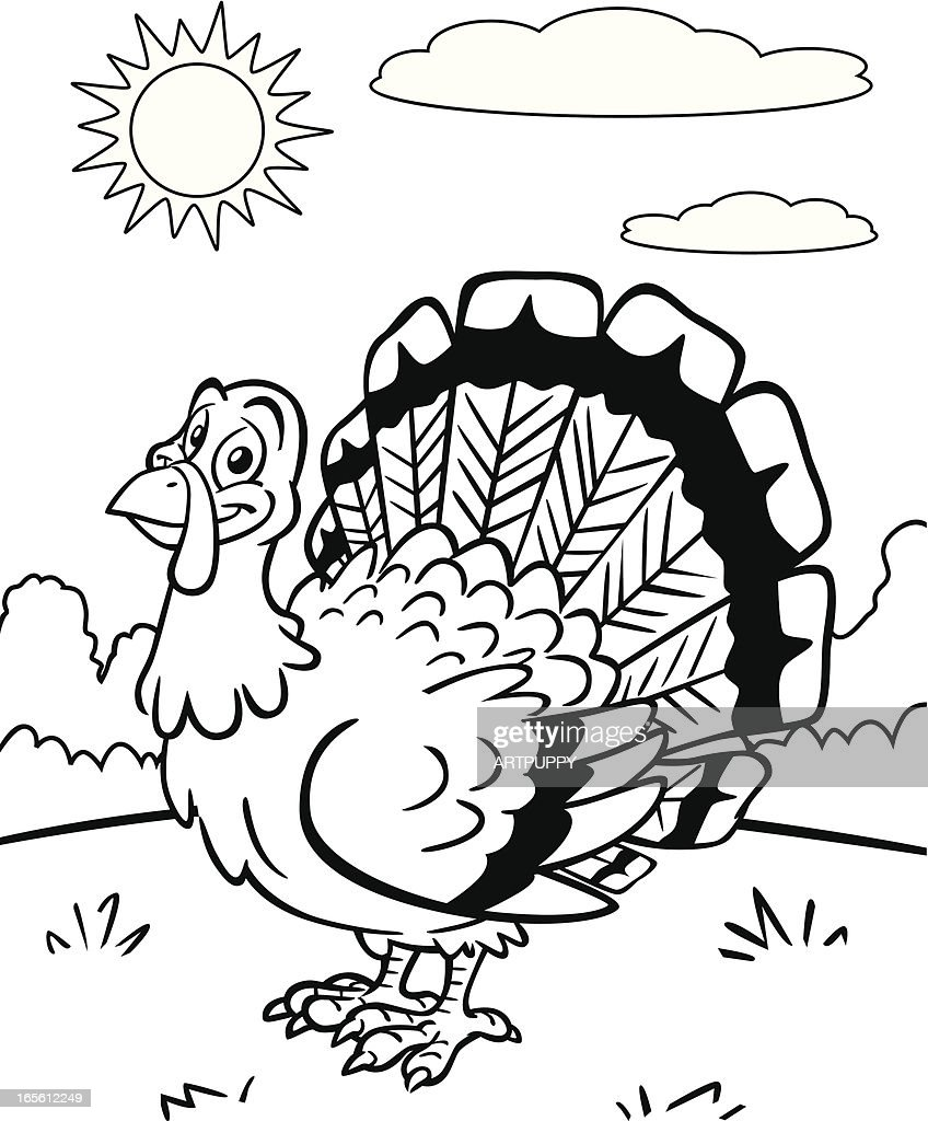 Coloring Book Turkey Vector Art | Getty Images