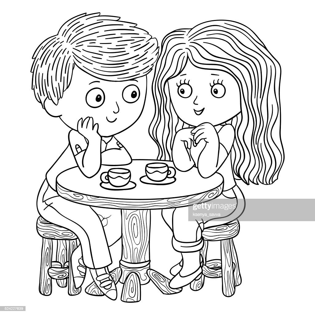 Coloring book (boy and girl)