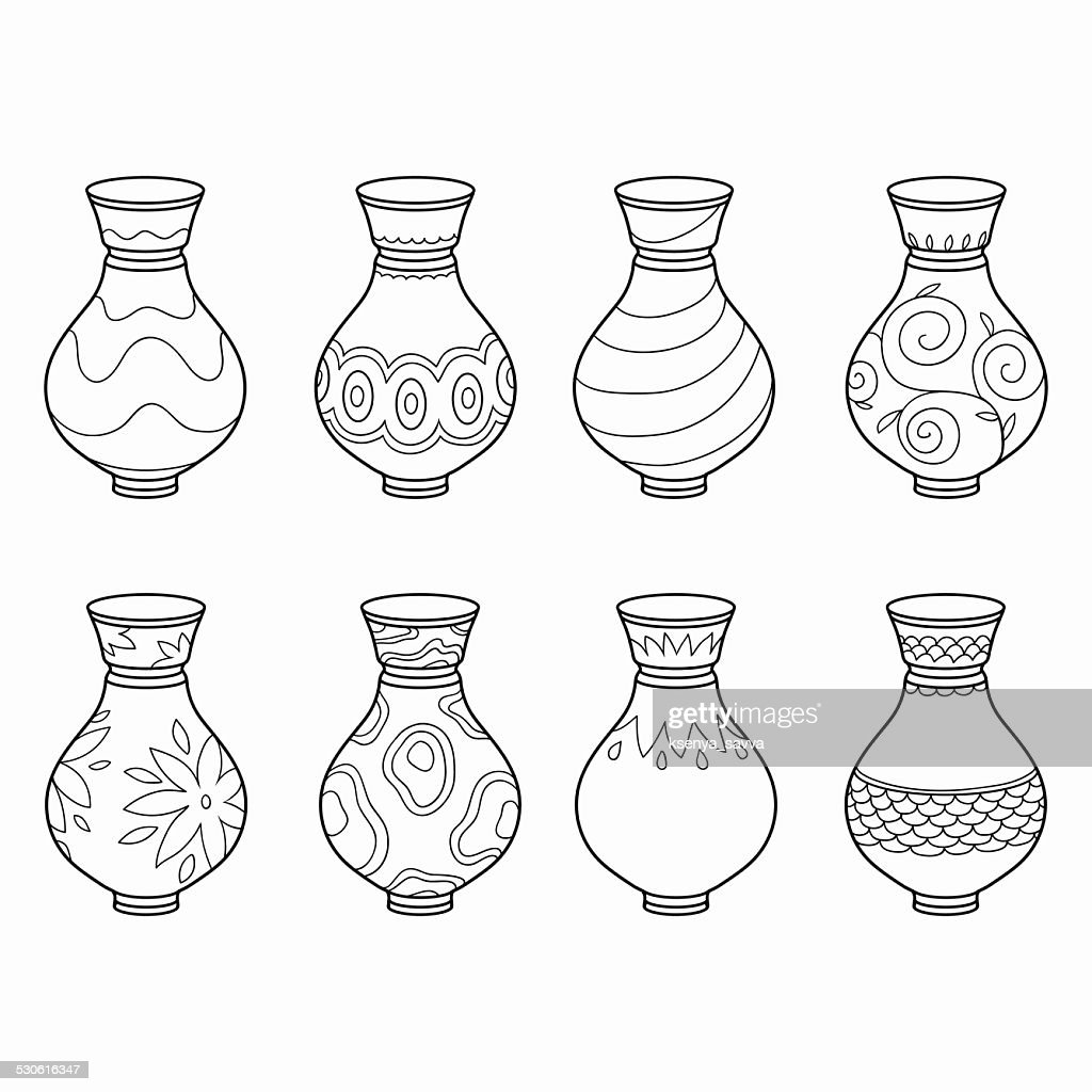 Coloring book (vases)