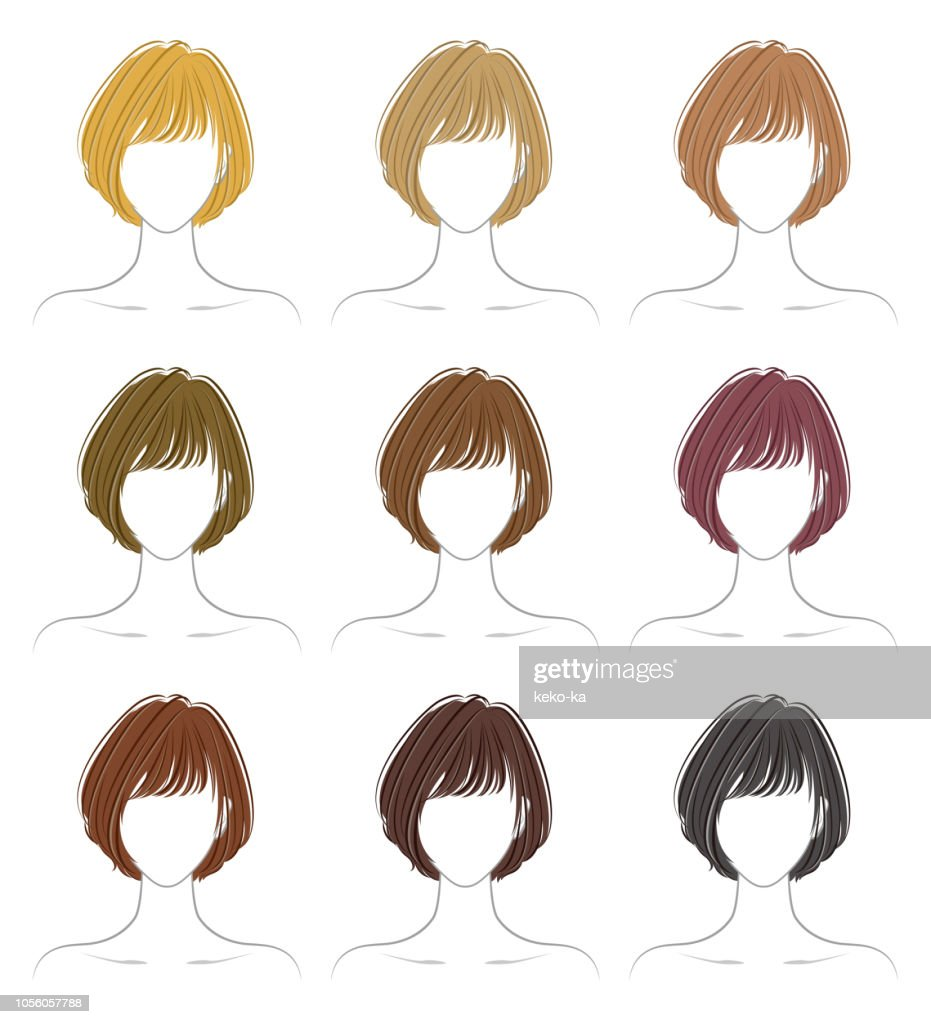 Coloring of the hairstyle
