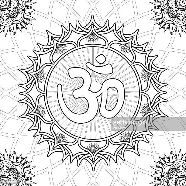 60 Top Om Symbol Stock Illustrations Clip Art Cartoons