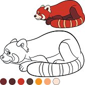 Free Download Of Cartoon Panda Coloring Page Vector Graphics And