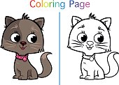 Coloring Page (Cat)