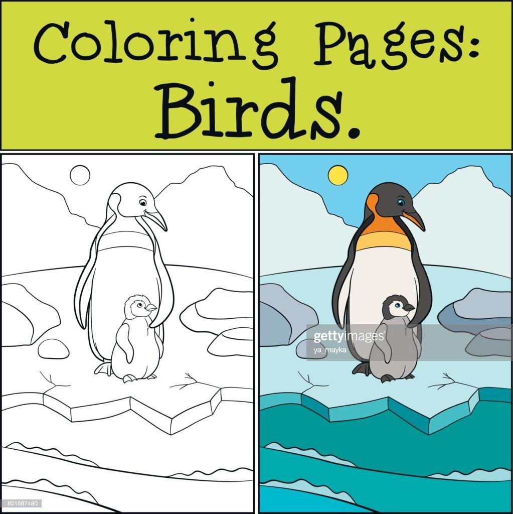 ausmalbild pinguin winter