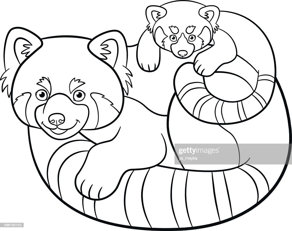 Coloring Pages Of Cute Baby Pandas Free Library Baby Red Panda - LowGif | 809x1024
