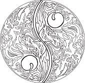 Coloring TAO mandala vector