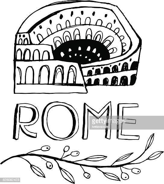 illustrations, cliparts, dessins animés et icônes de colisée de rome, en italie - olivier