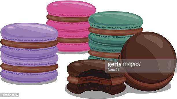 colouful macaroons - macaroon stock illustrations, clip art, cartoons, & icons